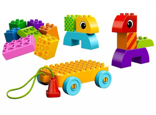 10554 Lego Duplo - Веселая каталка с кубиками