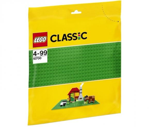 10700 Lego Classic - Строительная пластина зелёного цвета