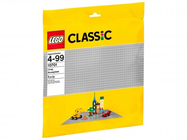 10701 Lego Classic - Строительная пластина серого цвета