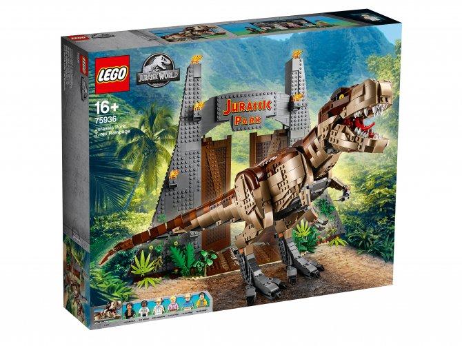 75936 Lego Jurassic World - Парк Юрского периода: ярость Ти-Рекса