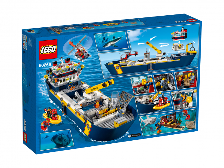 60266 Lego City - Океан: исследовательское судно