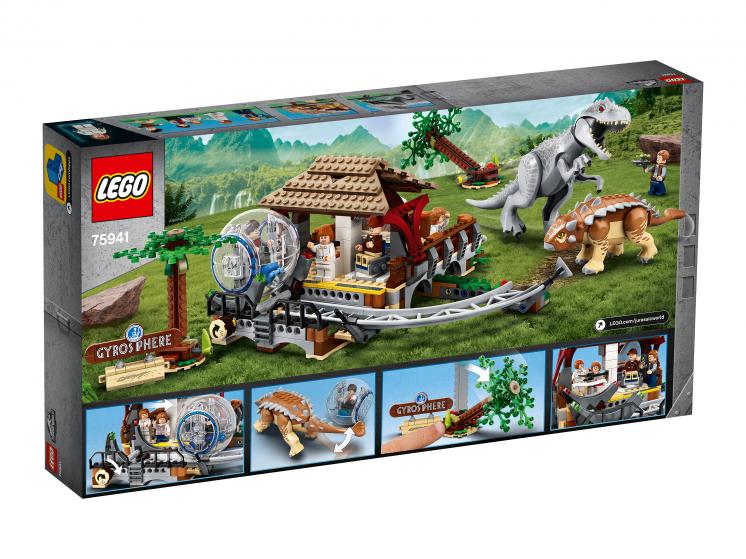 75941 Lego Jurassic World – Индоминус-рекс против анкилозавра