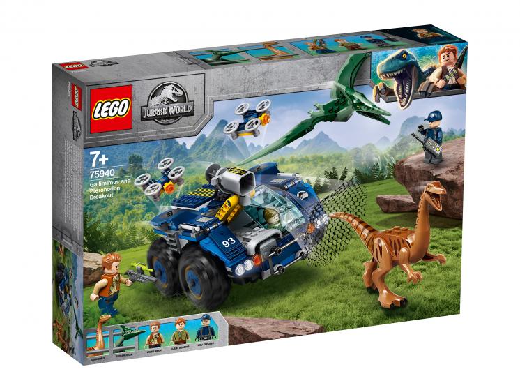75940 Lego Jurassic World – Побег галлимима и птеранодона