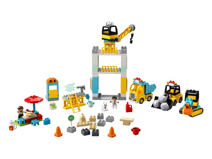 10933 Lego Duplo - Башенный кран на стройке